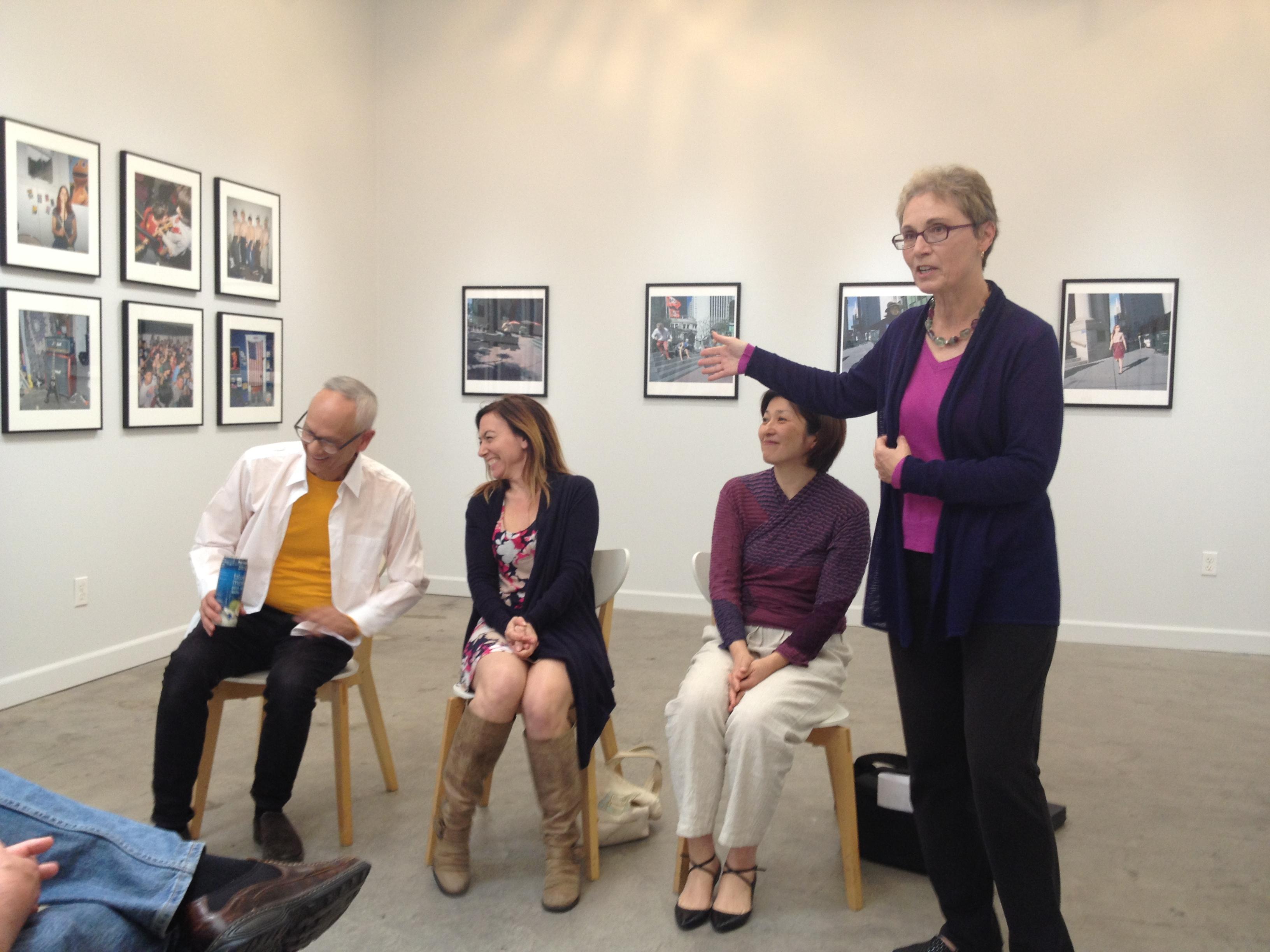 Michael Jang, Ann Jastrab, Hiroyo Kaneko, and Irene Imfeld at PHOTO, Oakland, 2015